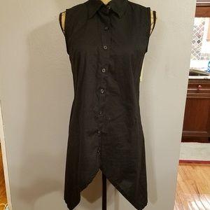 Norma Kamali buttondown sleeveless tunic